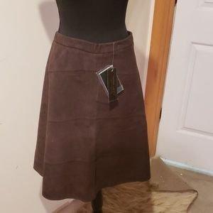 TERRY LEWIS suede skirt NWT